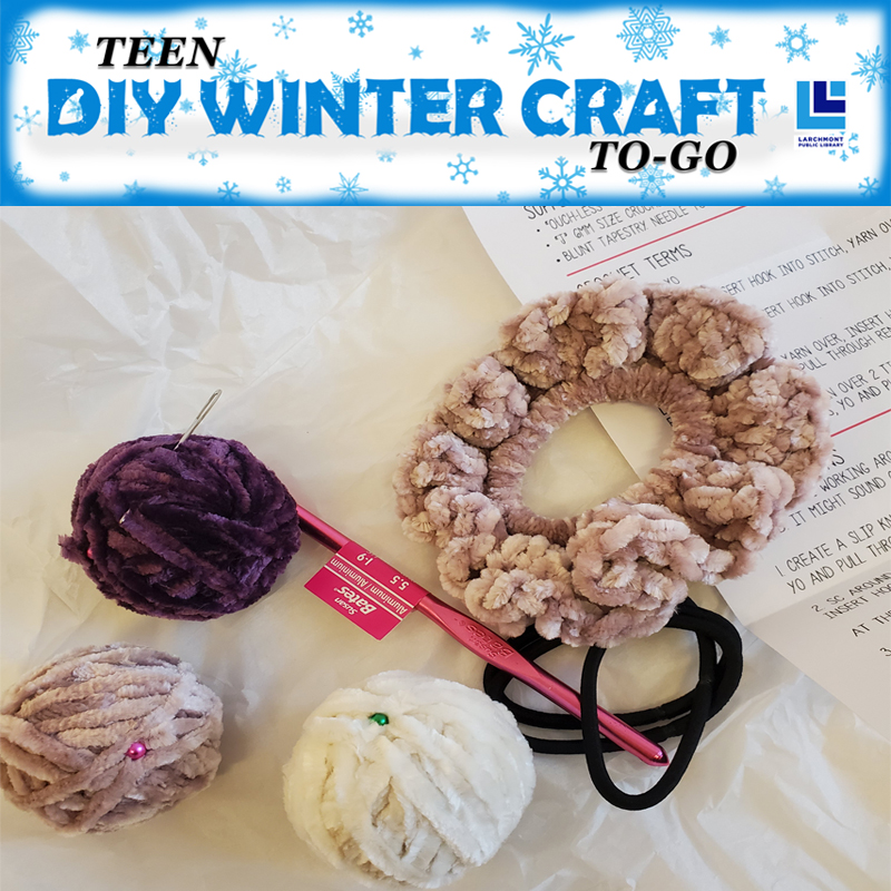 WINTER CRAFT TO-GO: Crochet Scrunchies