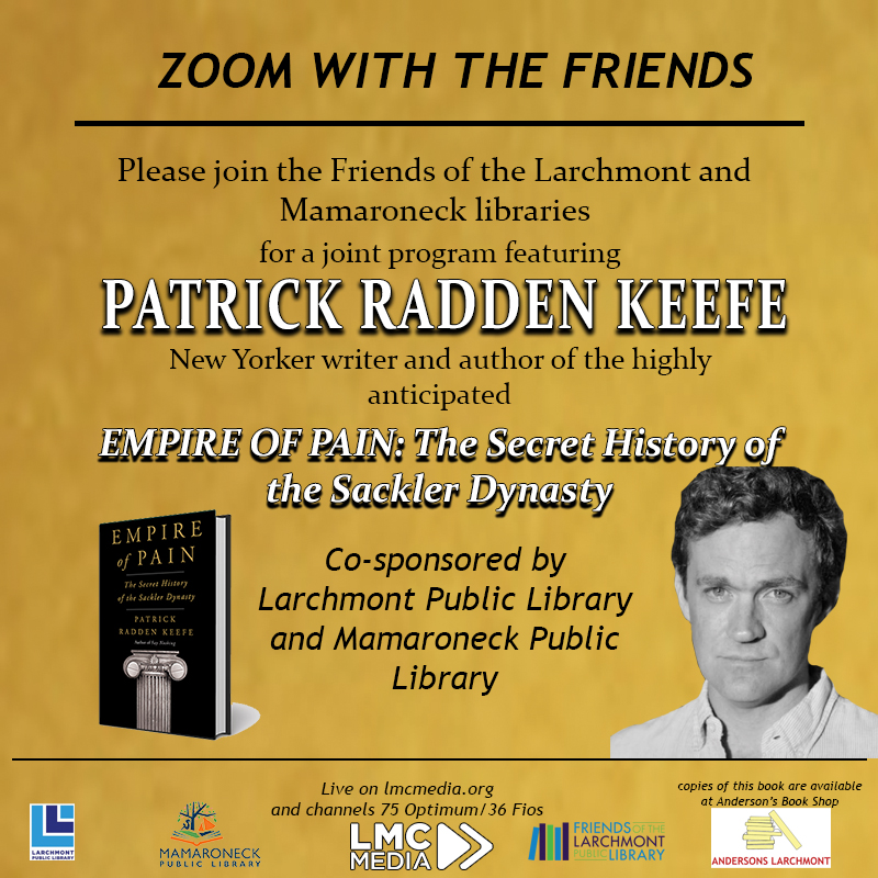 Zoom with the Friends - Book Discussion with Patrick Radden Keefe