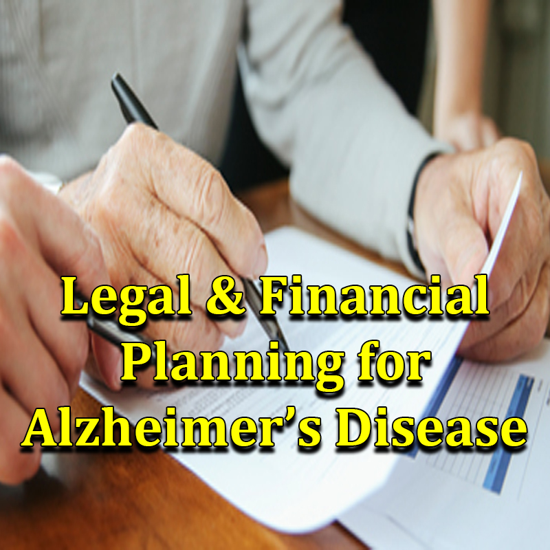 Legal & Financial Planning for Alzheimer's Disease on Zoom