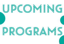 Upcoming Programs December 28th to January 10th