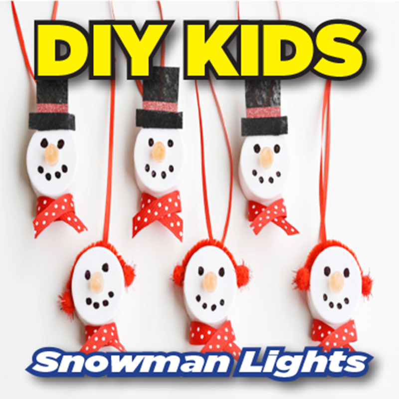 DIY Kids: Snowman Lights