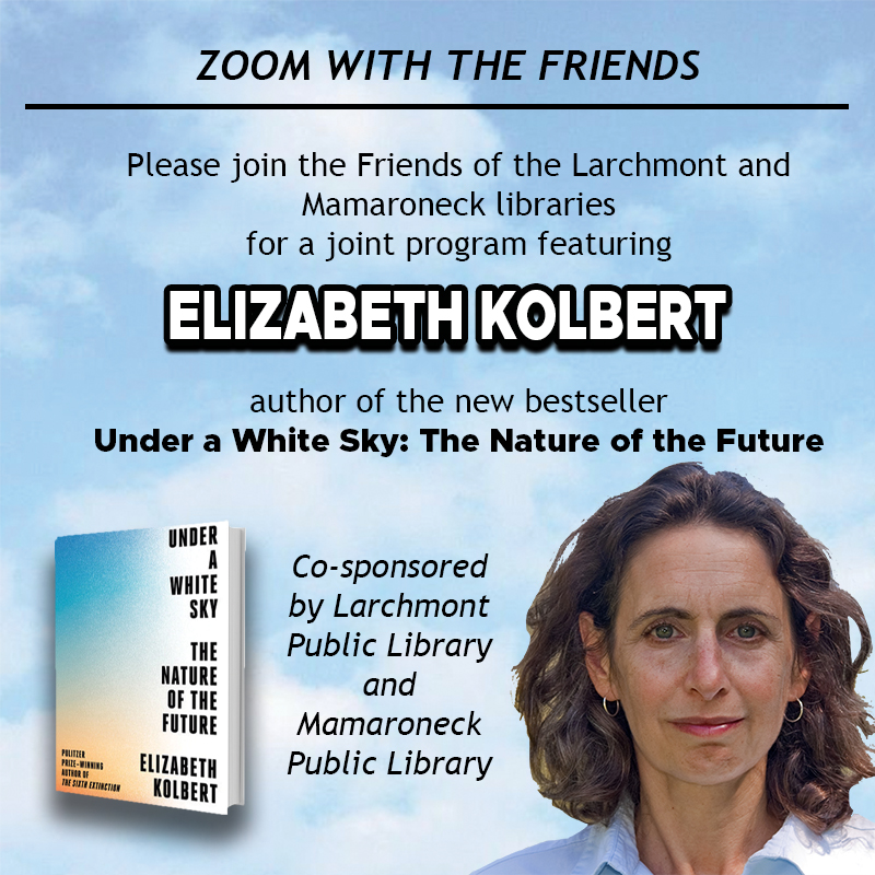 Zoom with the Friends - Book Discussion with Elizabeth Kolbert