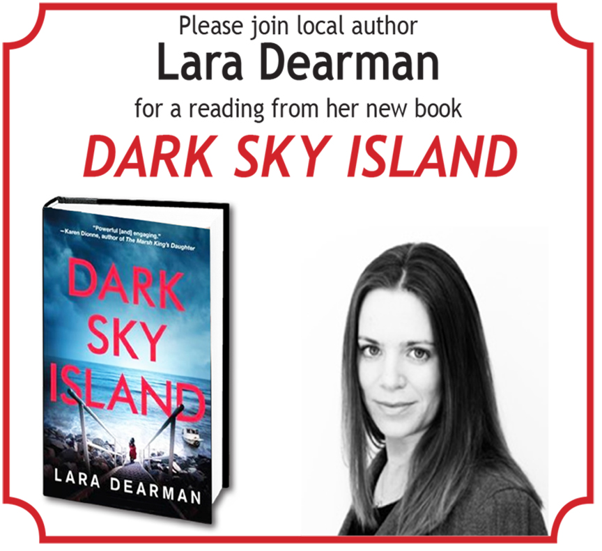 Local Author Lara Dearman, reads from DARK SKY ISLAND