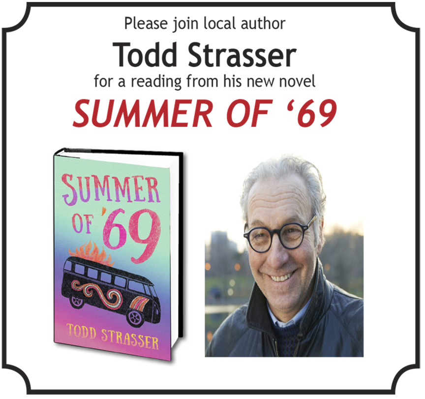 The Friends of the Larchmont Public Library presents Todd Strasser