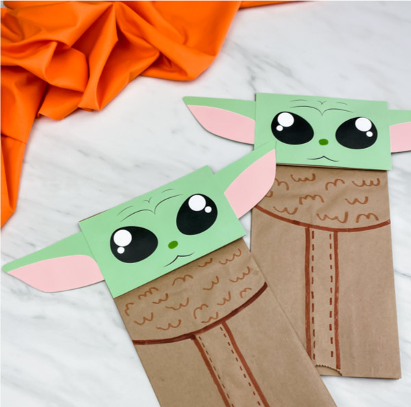 Take Home Craft of the Week: Baby Yoda puppet