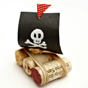 Take-Home Craft of the Week: Cork Pirate Ship