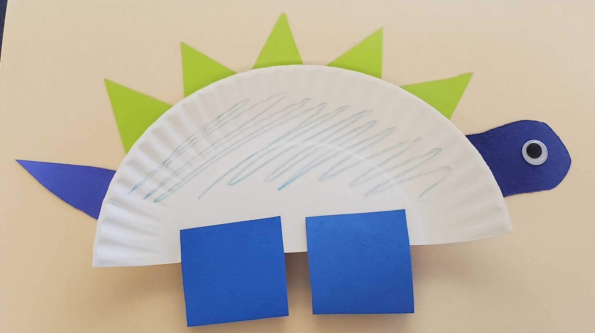 Take-Home Craft of the Week: Dino Plate