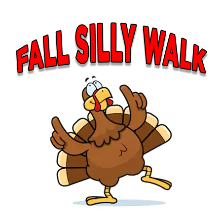 Fall Silly Walk in Ryder's Garden
