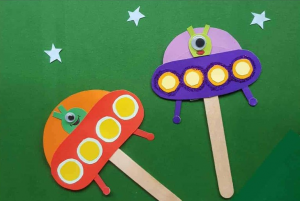 Take-Home Craft of the Week:  Flying Saucer on a Stick