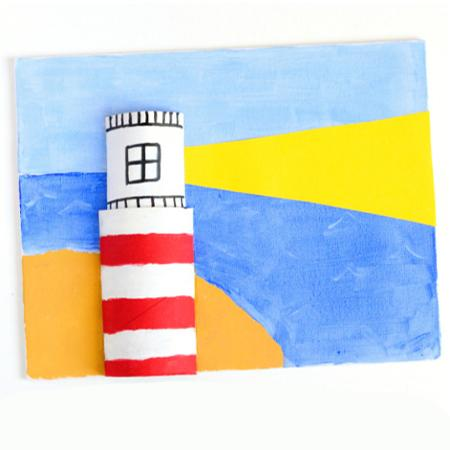 Take-Home Craft of the Week = Paper Lighthouse
