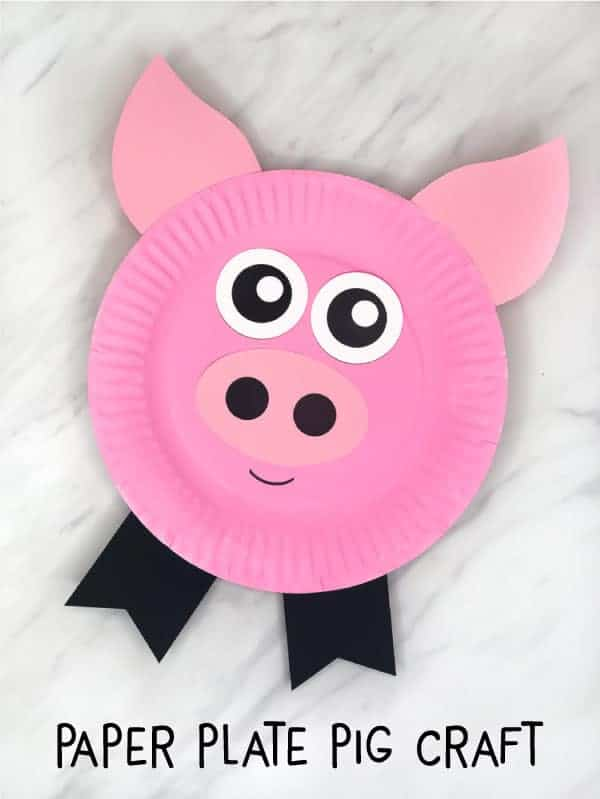 Take-Home Craft of the Week- Paper Plate Pig