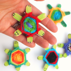 Take-Home Craft of the Week- Yarn Turtle
